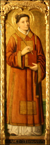 Image of Saint Stephen in the Monaco Cathedral