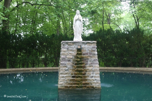 The Grotto's water comes directly from Mary's mountain creek