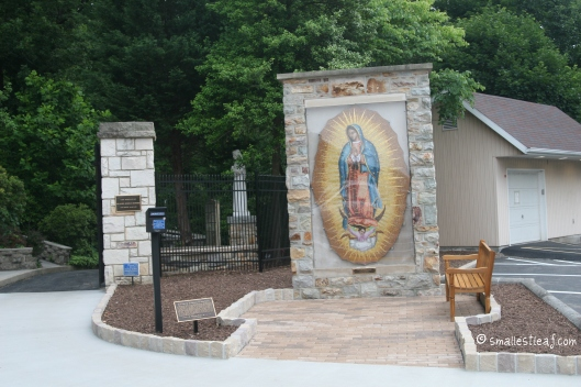 Our Lady of Guadalupe welcomes pilgrims at the gate